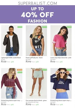 Clothing offers in the Superbalist catalogue in Cape Town