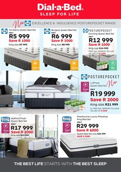 Pillow offers in the Dial a Bed catalogue in Cape Town