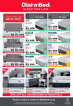 Headboard offers in the Dial a Bed catalogue in Cape Town