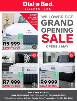 Dial a Bed deals in the Cape Town special