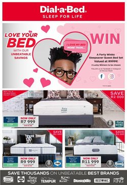 Valentine's Day offers in the Dial a Bed catalogue ( Expires today)