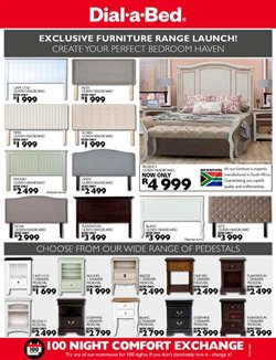 Nightstand offers in the Dial a Bed catalogue in Cape Town