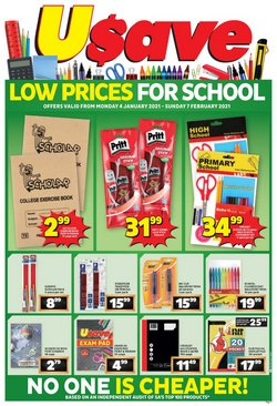 Back to school offers in the Usave catalogue ( 11 days left)