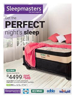 Sleepmasters deals in the Cape Town special