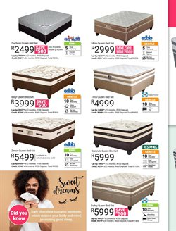 Pillow offers in the Sleepmasters catalogue in Cape Town