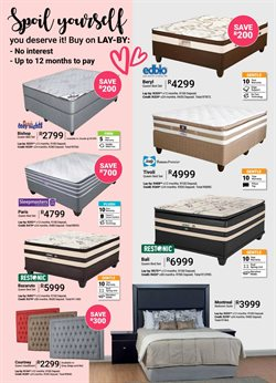 Headboard offers in the Sleepmasters catalogue in Cape Town