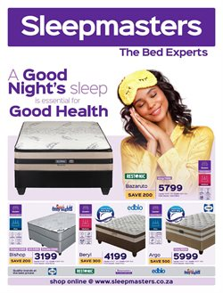 Home & Furniture offers in the Sleepmasters catalogue in Polokwane ( 2 days left )