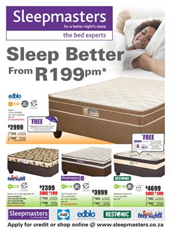 Home & Furniture offers in the Sleepmasters catalogue in Johannesburg