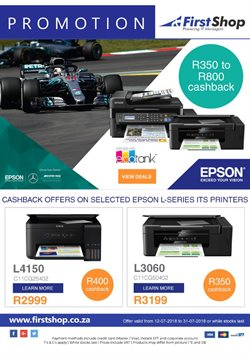 Printer offers in the First Shop catalogue in Cape Town