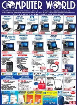 Computer World deals in the Pietermaritzburg special