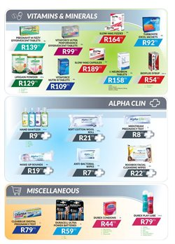 Batteries offers in the Alpha Pharm catalogue in Cape Town