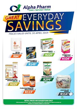 Beauty & Health offers in the Alpha Pharm catalogue in Rustenburg