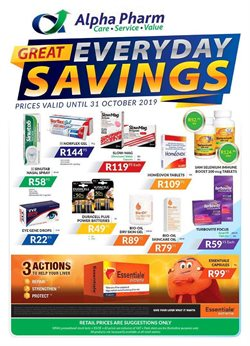 Alpha Pharm deals in the Cape Town special
