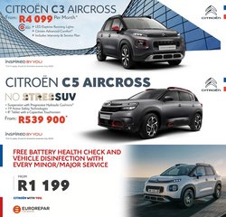 Cars, Motorcycles & Spares offers in the Citroen catalogue ( Published today)