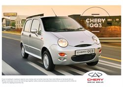 Chery Auto catalogue in Port Elizabeth ( More than a month )