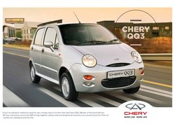 Cars, Motorcycles & Spares offers in the Chery Auto catalogue ( 5 days left)