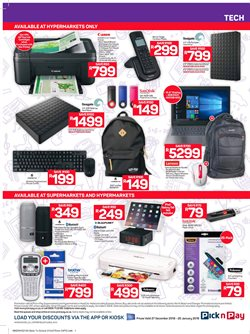 Computer offers in the Pick n Pay catalogue in Pretoria