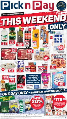 Groceries offers in the Pick n Pay catalogue in Somerset West