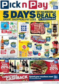 Groceries offers in the Pick n Pay catalogue in Cape Town