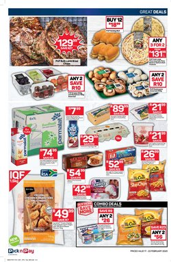 Desserts specials in Pick n Pay
