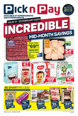 Sugar specials in Pick n Pay
