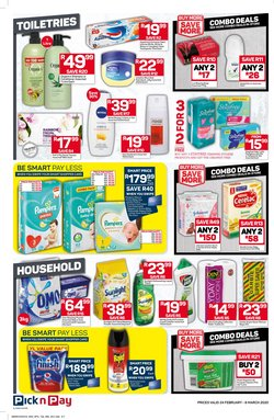 Baby wipes specials in Pick n Pay