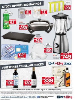 Frying pan specials in Pick n Pay
