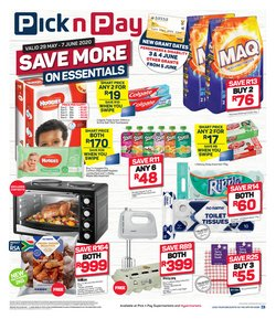 Toothpaste specials in Pick n Pay