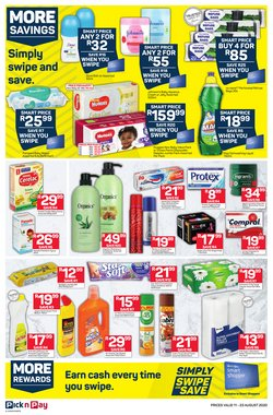 Shampoo specials in Pick n Pay