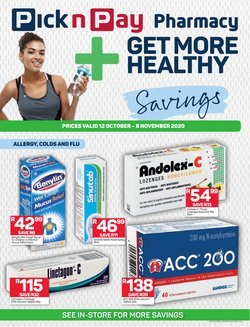 Pharmacy specials in Pick n Pay