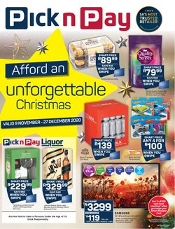Christmas offers in the Pick n Pay catalogue ( 29 days left)