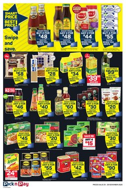 Rainbow specials in Pick n Pay