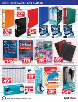 Calendar specials in Pick n Pay