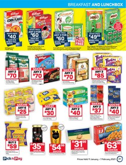 Custard specials in Pick n Pay