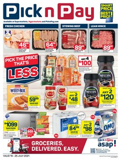 Groceries offers in the Pick n Pay catalogue ( Expires today)