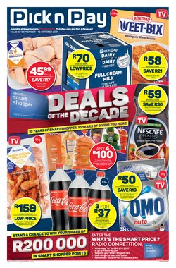 Groceries offers in the Pick n Pay catalogue ( 15 days left)
