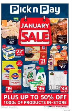 Pick n Pay deals in the Johannesburg special