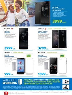 Sony smartphones offers in the Incredible Connection catalogue in Cape Town