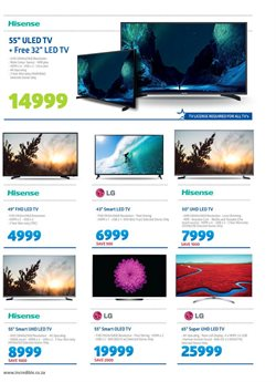 Hisense offers in the Incredible Connection catalogue in Cape Town