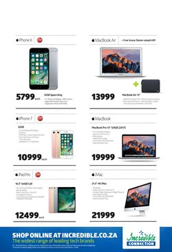 Apple products offers in the Incredible Connection catalogue in Cape Town