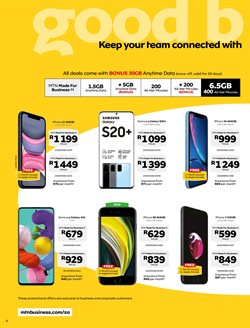 IPhone X specials in MTN