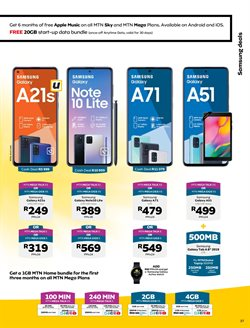 Samsung Galaxy Note 10 specials in MTN