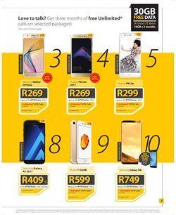 Iphone 7 offers in the MTN catalogue in Cape Town