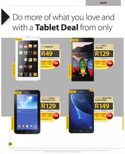 Tablet offers in the MTN catalogue in Pretoria