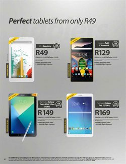 Lenovo tablet offers in the MTN catalogue in Cape Town