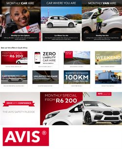 Cars, Motorcycles & Spares offers in the Avis catalogue in Pretoria ( 24 days left )