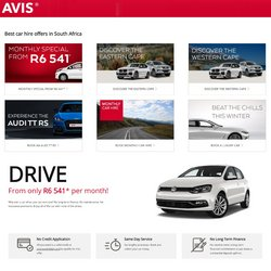 Audi offers in the Avis catalogue ( 19 days left)