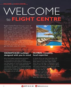 Tours offers in the Flight Centre catalogue in Cape Town
