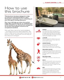 Spas offers in the Flight Centre catalogue in Cape Town