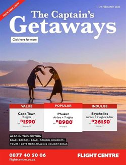 South Africa holidays specials in Flight Centre